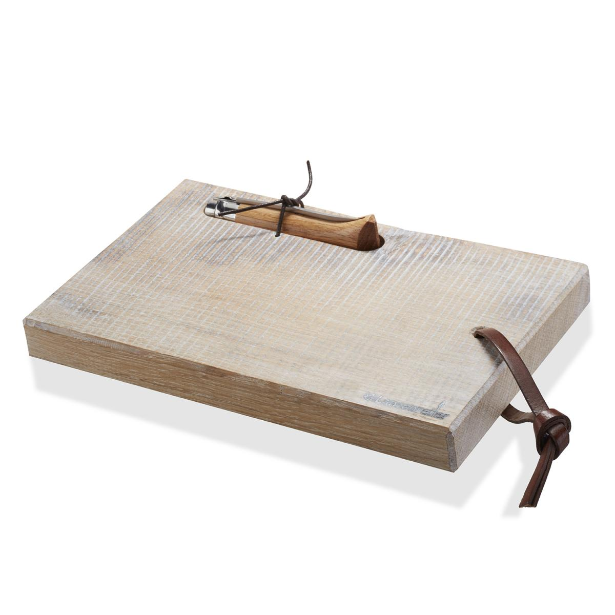 Brotzeitbrett mit Opinel-Taschenmesser